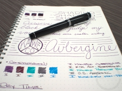 Kaweco Aubergine Fountain Pen Ink Review 9