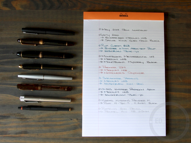 May 2014 Fountain Pen Loadout
