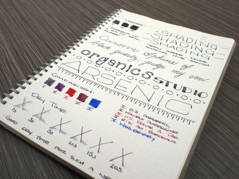 Organics Studio Arsenic Fountain Pen Ink Review