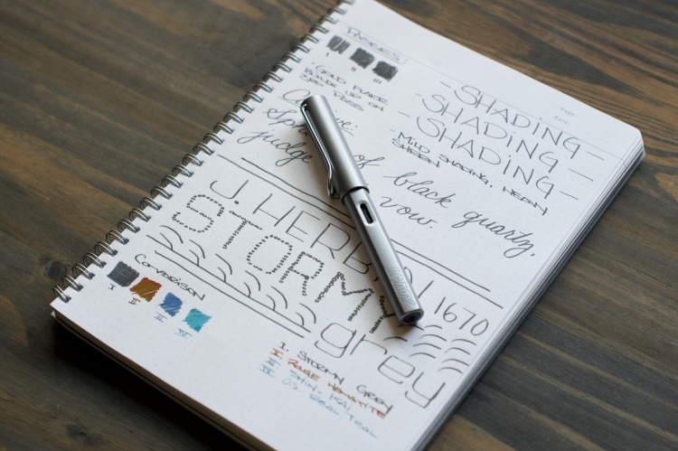 J Herbin 1670 Stormy Grey Fountain Pen Ink Review