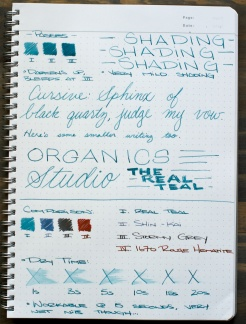 Organics Studio The Real Teal Fountain Pen Ink Review