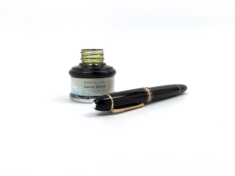 Montblanc Defoe Writers Edition Palm Green Fountain Pen Ink