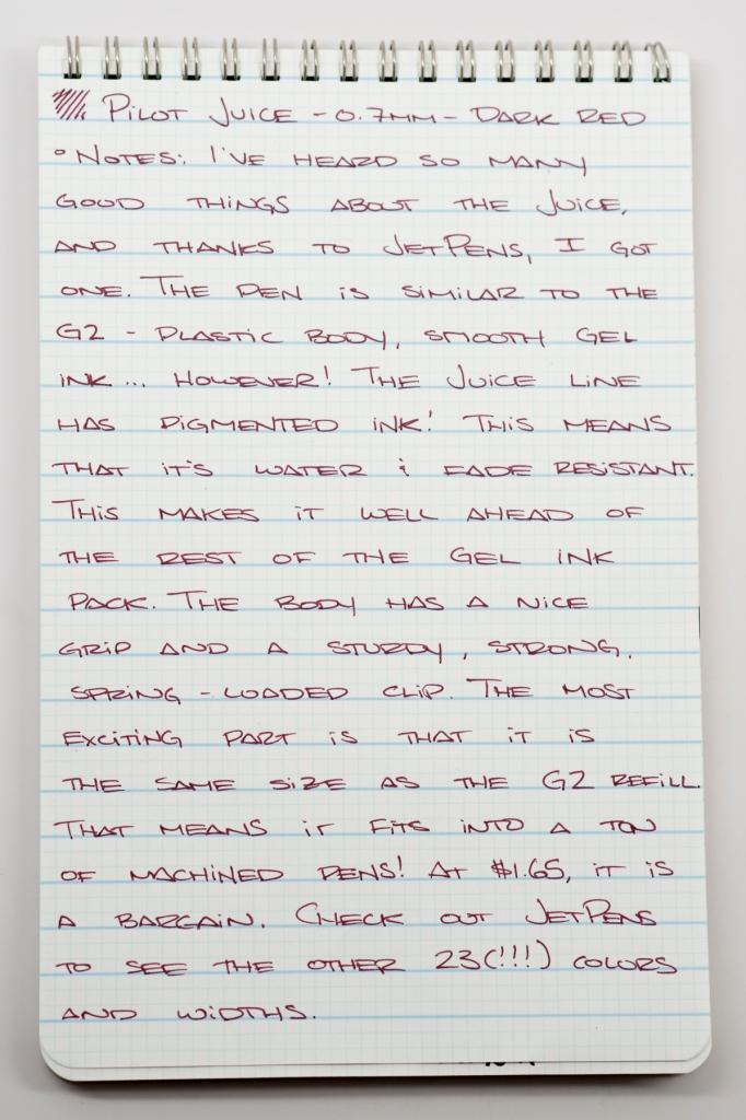 Pilot Juice Dark Red 0.7mm Gel Pen Review-1