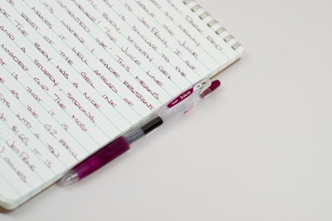 Pilot Juice Dark Red 0.7mm Gel Pen Review-3