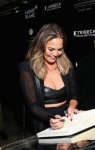"Model Chrissy Teigen attends the NYC premiere of ""Power of Words"" powered by Montblanc and Tribeca Film Institute on December 5, 2014 in New York City. (Photo by Neilson Barnard/Getty Images for Montblanc)"