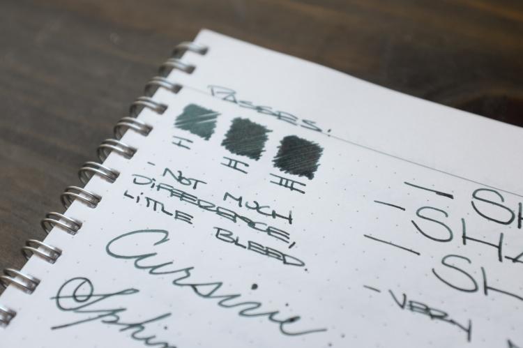 Sailor Miruai Green Fountain Pen Ink Review-3