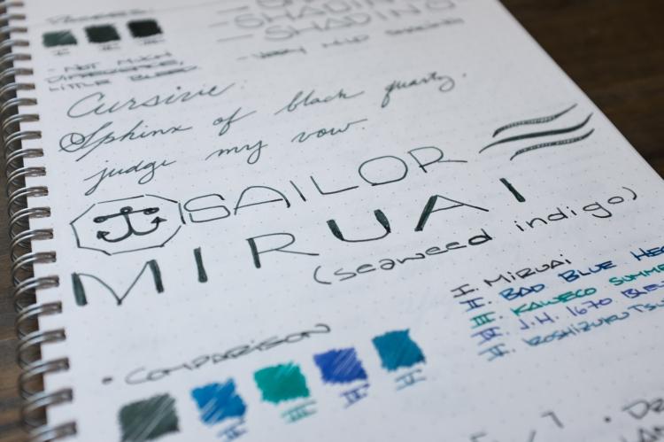 Sailor Miruai Green Fountain Pen Ink Review-5