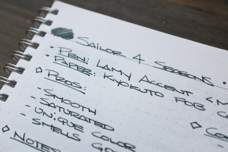 Sailor Miruai Green Fountain Pen Ink Review-7