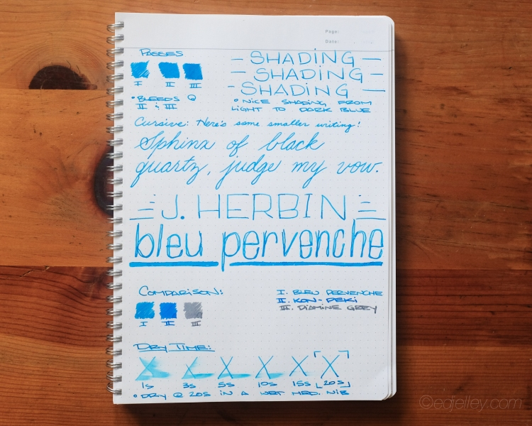 J. Herbin Bleu Pervenche Fountain Pen Ink Review-5