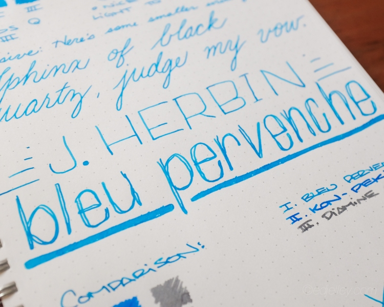 J. Herbin Bleu Pervenche Fountain Pen Ink Review-6