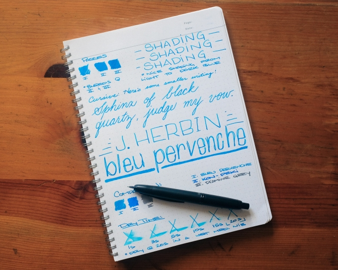 J. Herbin Bleu Pervenche – Ink Review