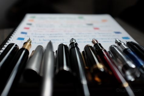 March 2015 Fountain Pen Loadout-1