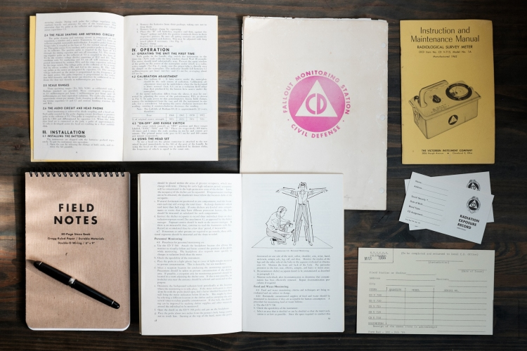 Civil Defense Documents 1960s Platinum 3776-1