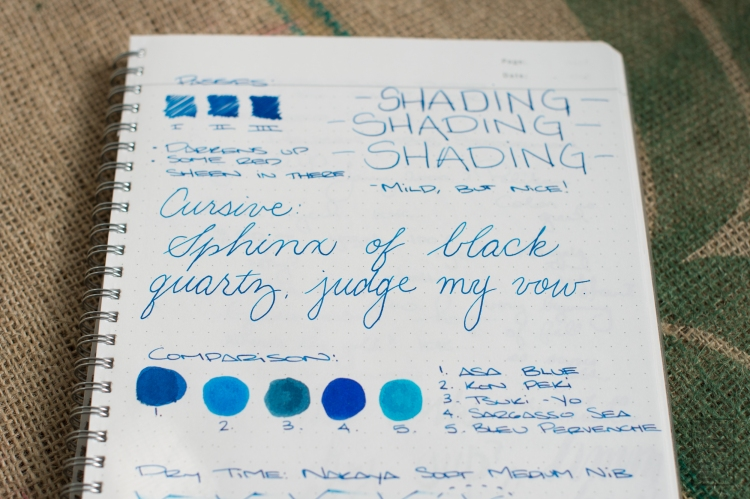 Diamine Asa Blue Fountain Pen Ink Review-10
