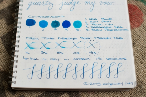 Diamine Asa Blue Fountain Pen Ink Review-13