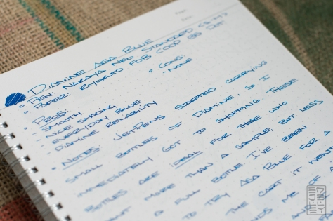 Diamine Asa Blue Fountain Pen Ink Review-4