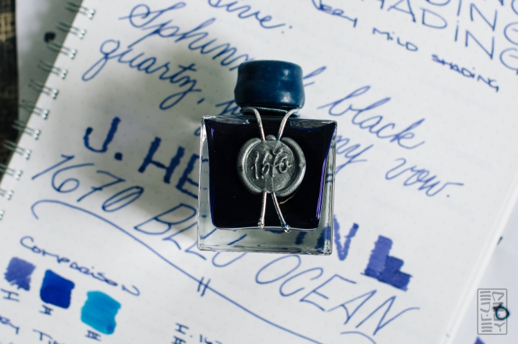 Header - J. Herbin 1670 Bleu Ocean Fountain Pen Ink Review Sheen-16