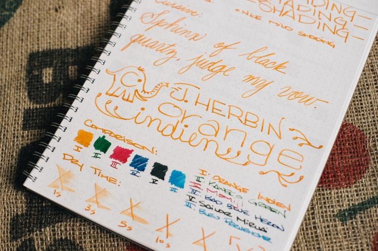 Header - J. Herbin Orange Indien Fountain Pen Ink Review-9-2