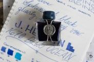 J. Herbin 1670 Bleu Ocean Fountain Pen Ink Review Sheen-17