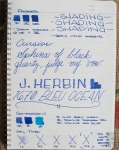 J. Herbin 1670 Bleu Ocean Fountain Pen Ink Review Sheen-6