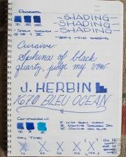 J. Herbin 1670 Bleu Ocean Fountain Pen Ink Review Sheen-6