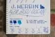 J. Herbin 1670 Bleu Ocean Fountain Pen Ink Review Sheen-7
