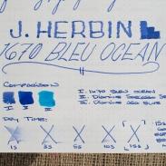 J. Herbin 1670 Bleu Ocean Fountain Pen Ink Review Sheen-7