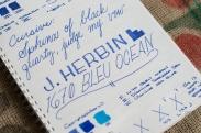 J. Herbin 1670 Bleu Ocean Fountain Pen Ink Review Sheen-8