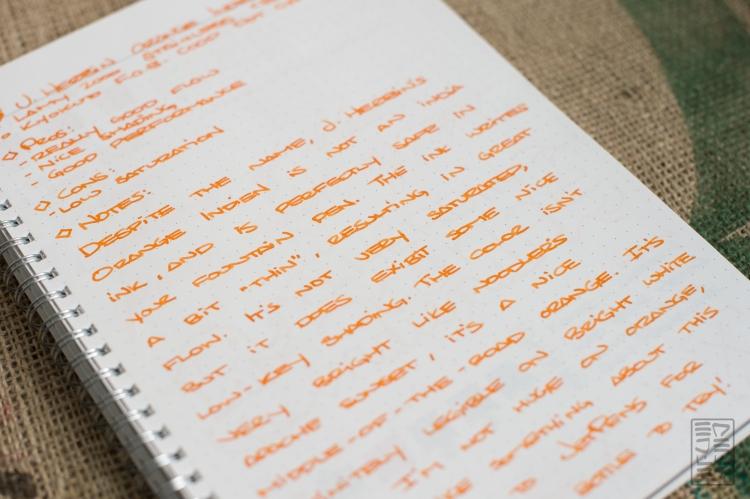 J. Herbin Orange Indien Fountain Pen Ink Review-3