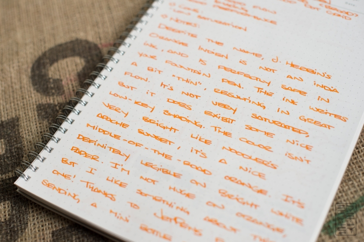 J. Herbin Orange Indien Fountain Pen Ink Review-4