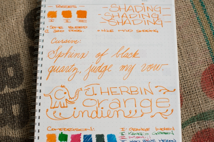 J. Herbin Orange Indien Fountain Pen Ink Review-8