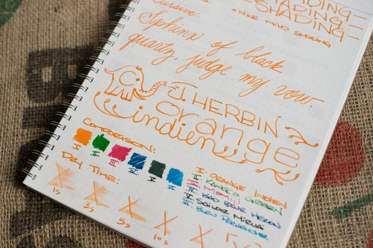 J. Herbin Orange Indien Fountain Pen Ink Review-9