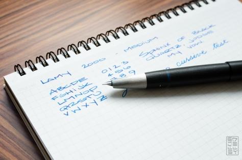 Lamy 2000 Fountain Pen Review Redux 2015-12