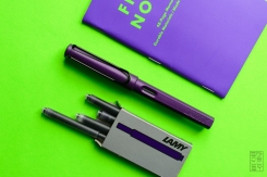 Lamy Safari Dark Lilac Fountain Pen Review Jetpens-2