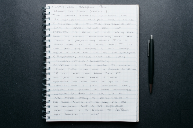Lamy 2000 Ballpoint Pen Review-1