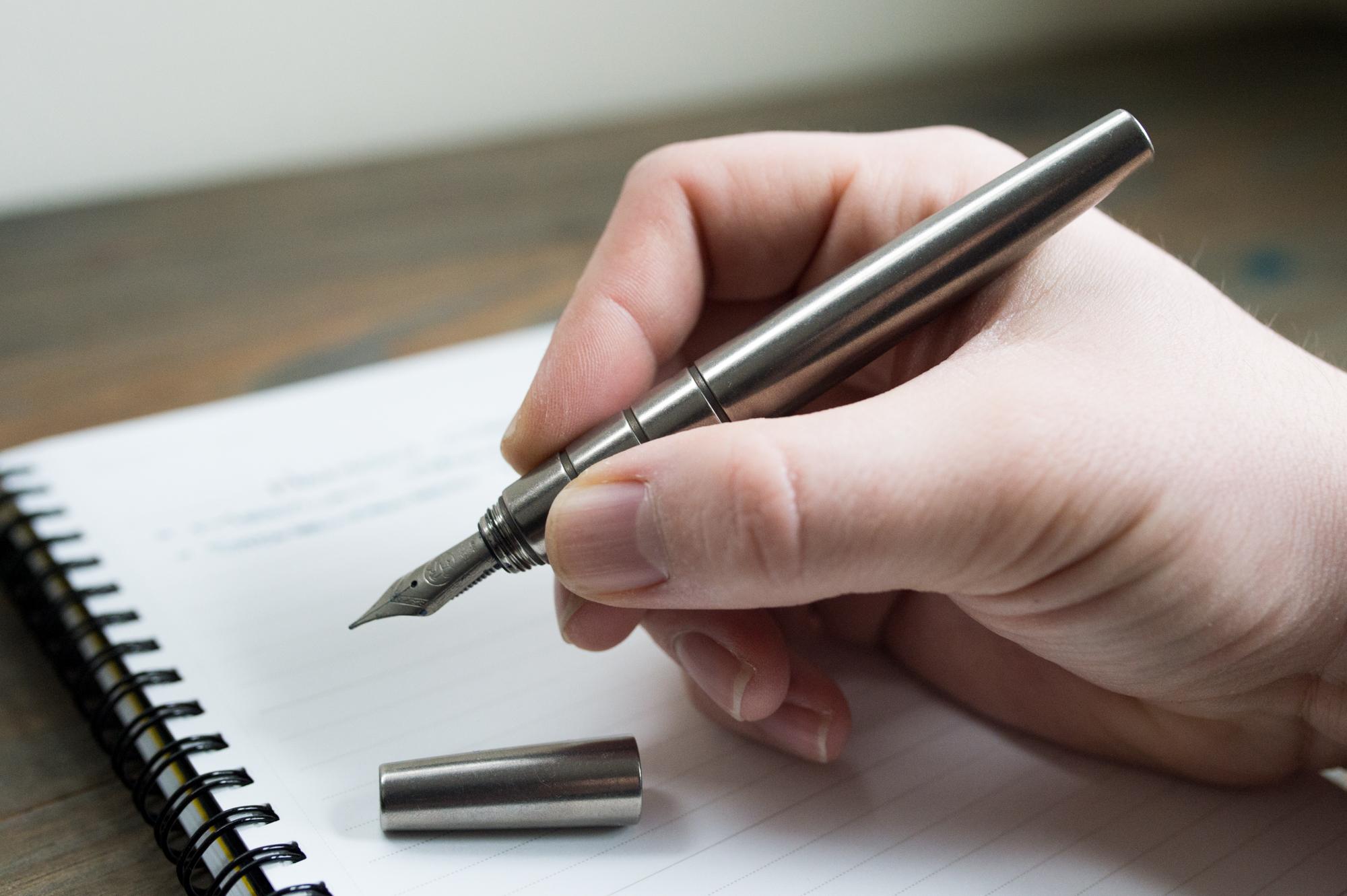 Namisu Orion Stonewashed Titanium Fountain Pen Review