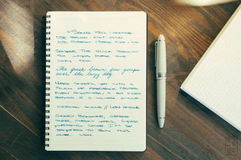 Sailor 1911L Anchor Grey Fountain Pen Review-2