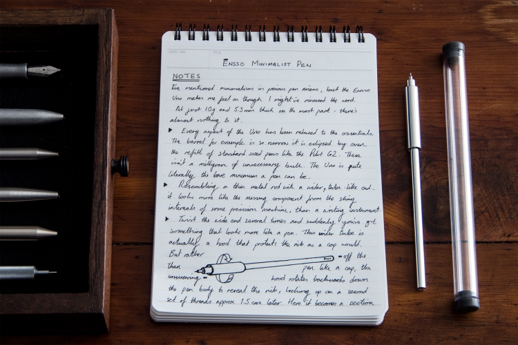 Ensso Minimalist Pen Raw Aluminum Review