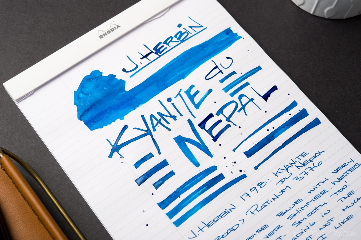 Jacques Herbin 1798: Kyanite du Nepal Ink Review